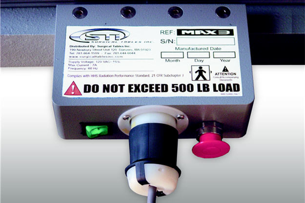 Power Switch with Emergency Stop and Removable Power Cord